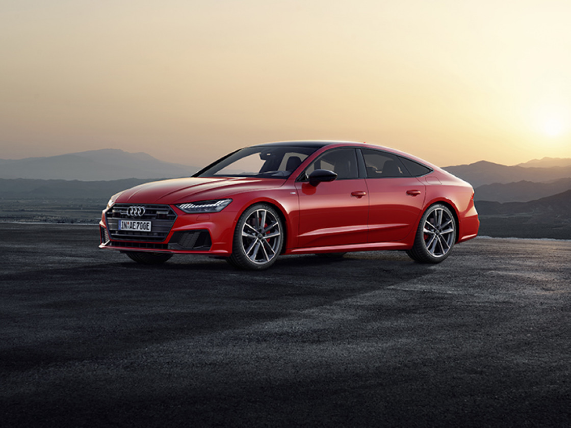 Audi A7 Sportback rood